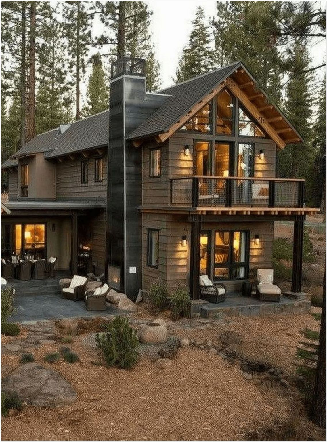 83 Stunning Contemporary Home Exterior Designs Ideas To Try 22 In 2020 Rustic Houses Exterior Cottage House Exterior Modern Farmhouse Exterior