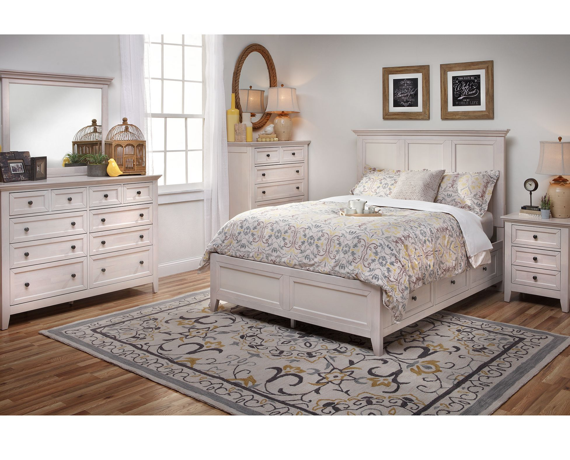 Bonn Storage Bedroom Set Oak Bedroom Furniture Sets White