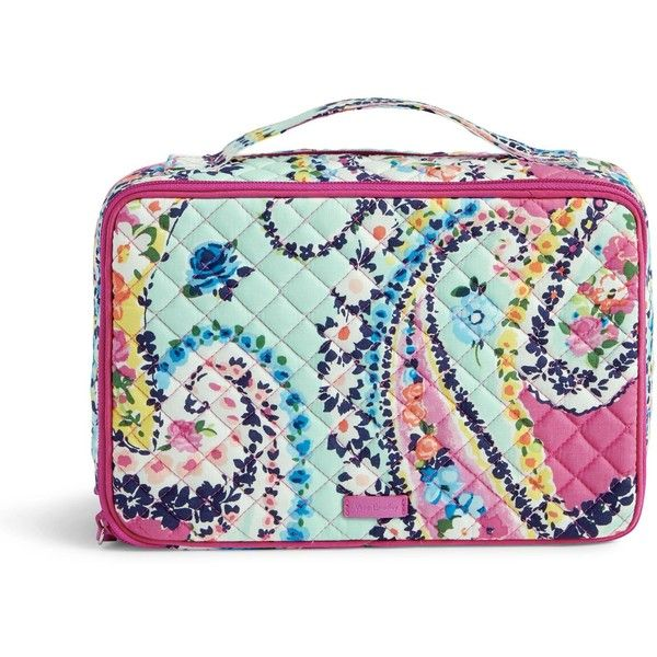 d20f97ed73c4 Vera Bradley Iconic Large Blush   Brush Case (350 DKK) ❤ liked on Polyvore  featuring beauty products
