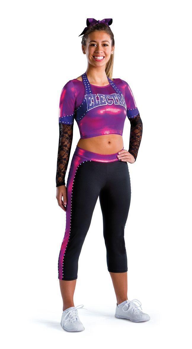 7a817c37dfff Cheer Halter Crop Top All Star Uniform - Motionwear All Star Cheer  Uniforms, Dance Team
