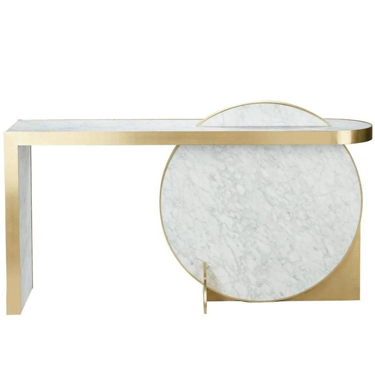 Lara Bohinc The Collision Console Carrara Marble And