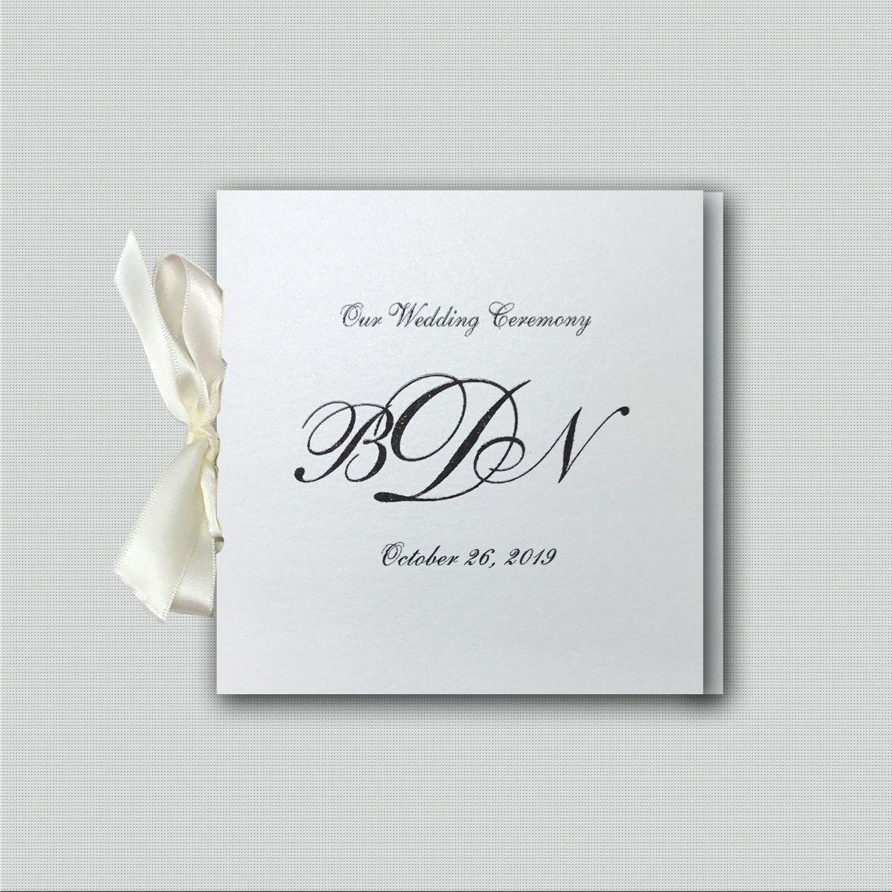 Romance Ribbon Wedding Programs