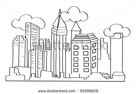 New York Skyline Drawing Outline Google Search Outline