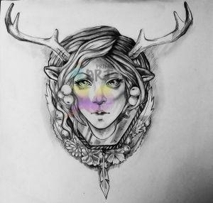 Artemis Tattoo Design