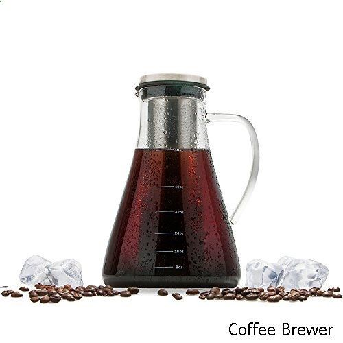 coffee brewer cold brew iced coffee tea maker kit by wintergreen 15l