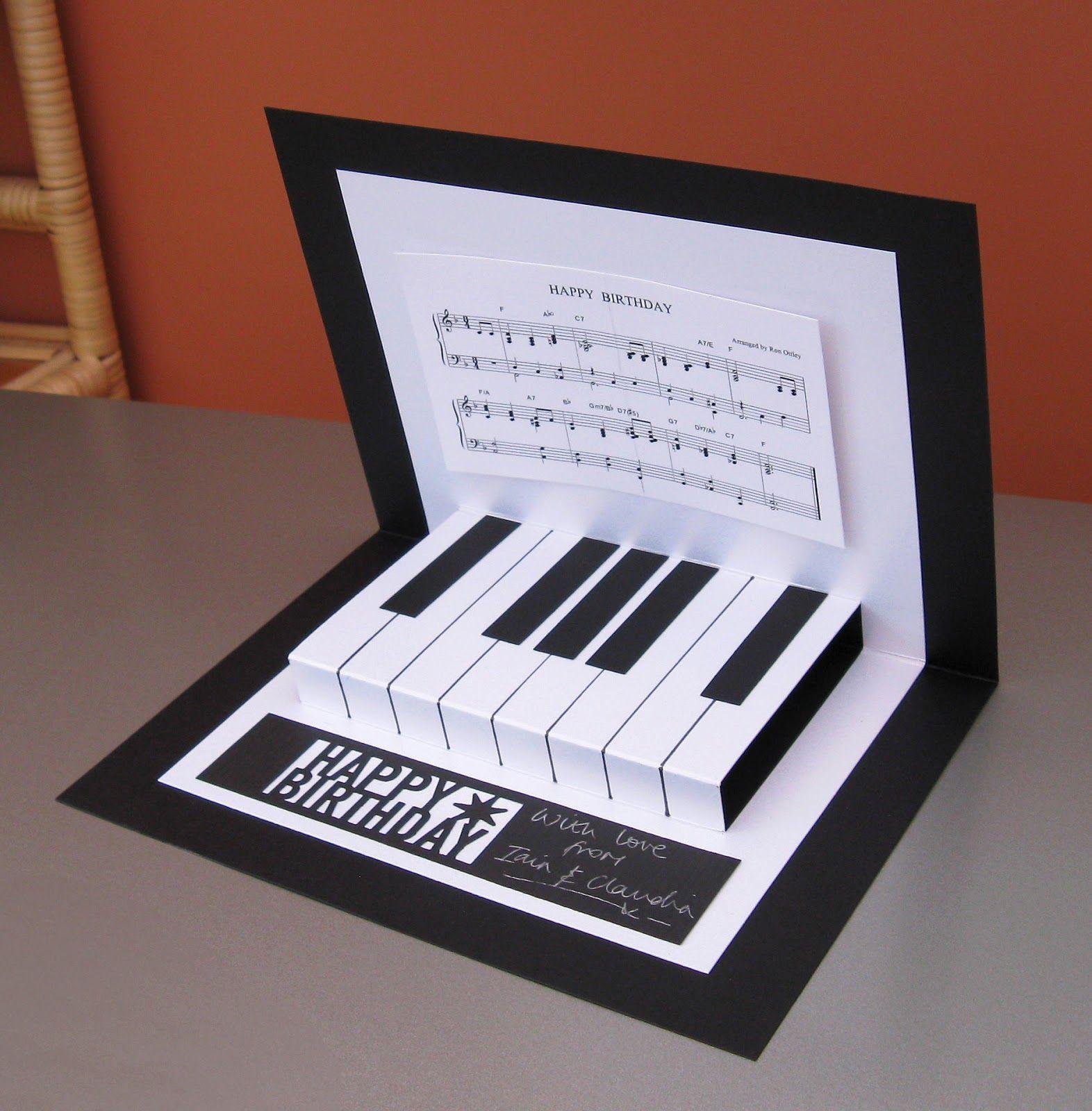 Claudia S Cards Pop Up Piano Card Tarjetas De Cumpleanos Hechas A Mano Tarjetas Artesanales Tarjetas Creativas