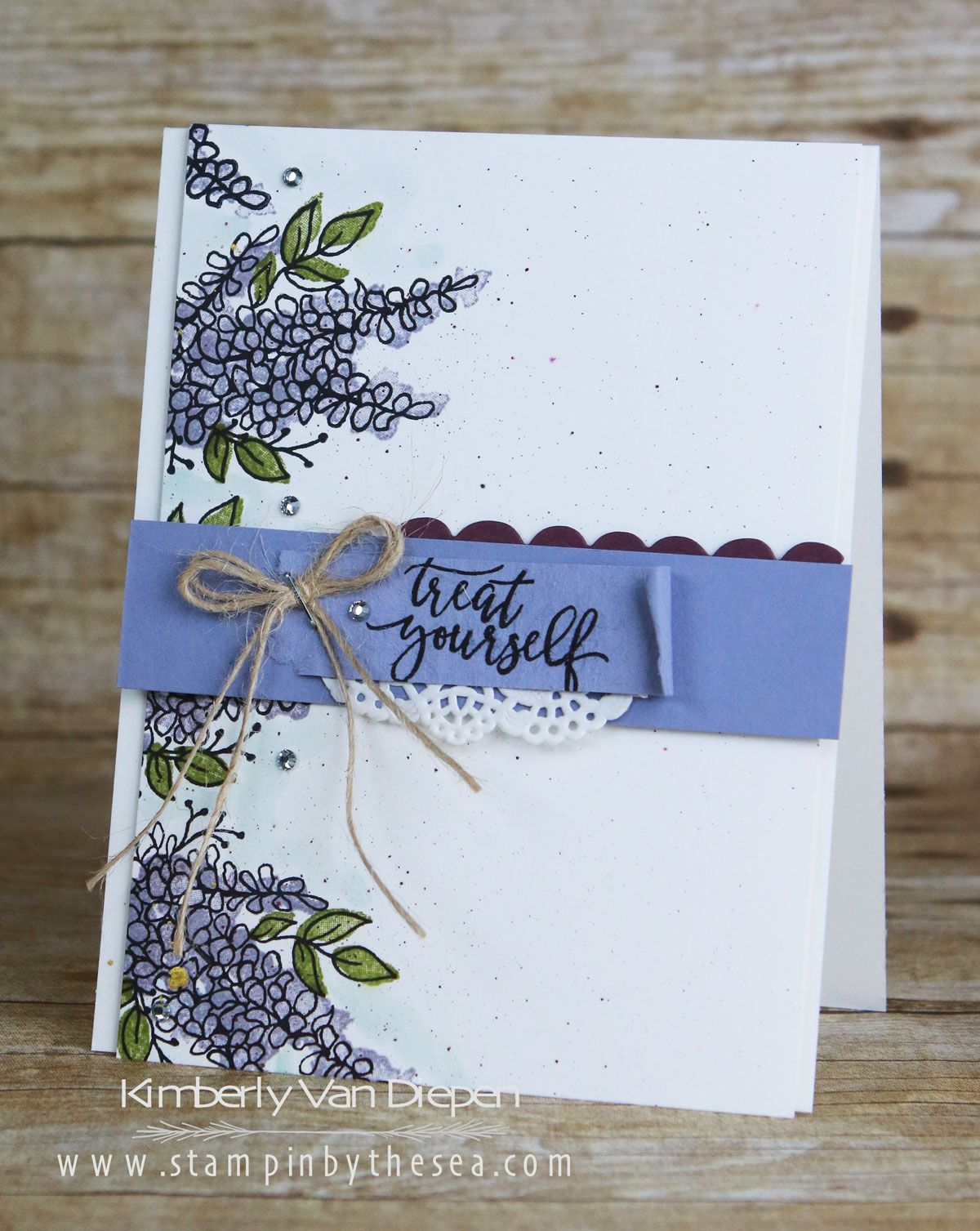 Happy New Year January All Star Tutorial Stampinbythesea Com Lavender Stamp Card Craft Floral Cards