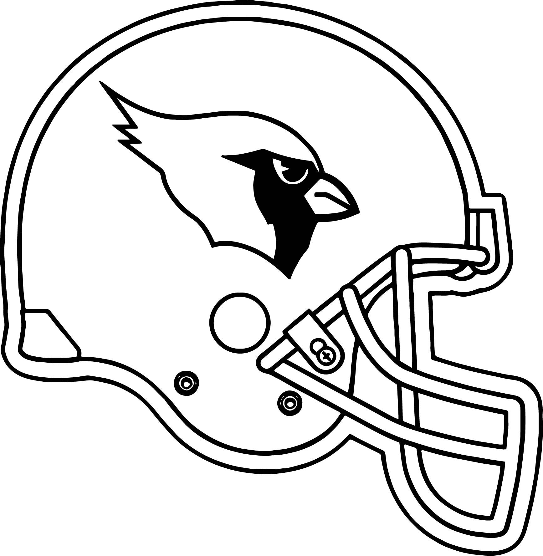 Cool Arizona Cardinals Helmet Coloring Page With Images