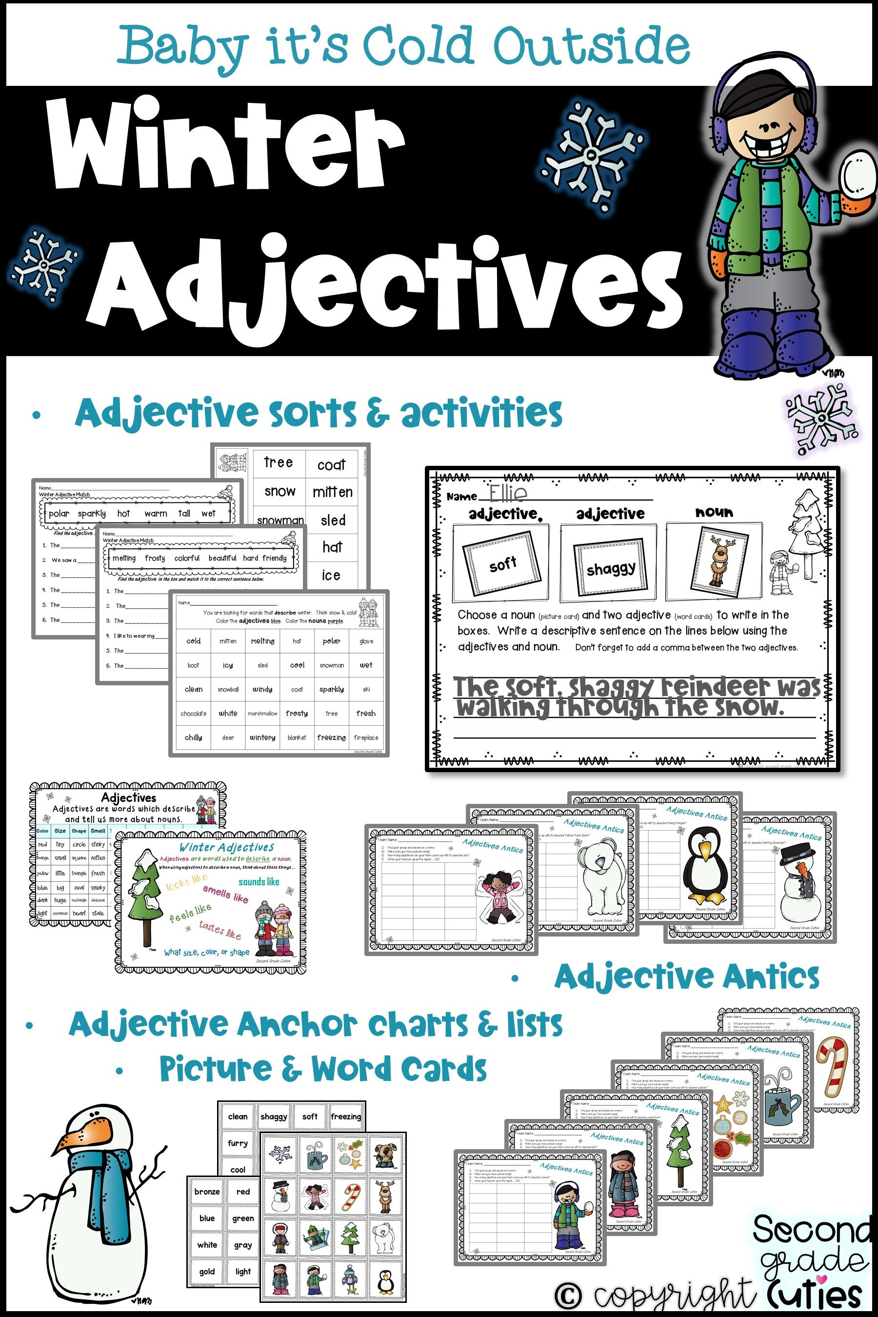 Adjectives Matching Nouns Descriptive Sentences