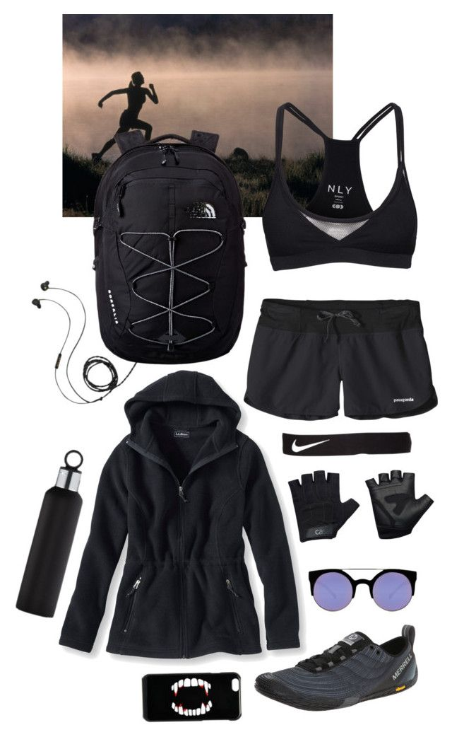 10115c9b6c597 Health Goth Trail Running by blackbettyblog on Polyvore featuring L.L.Bean,  Patagonia, Merrell, The North Face, ASOS, Quay, Molami, blomus, Casall and  NIKE