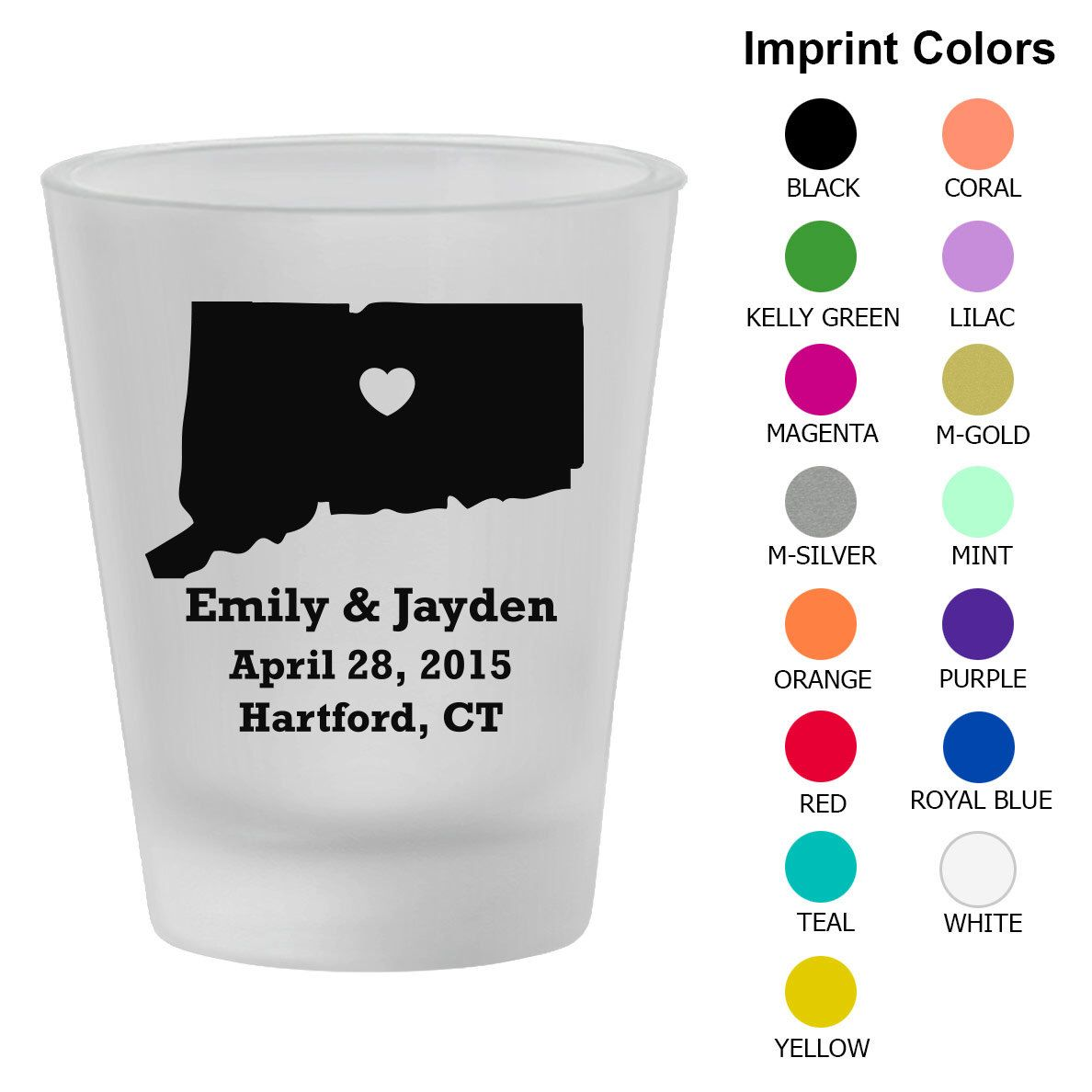 Personalized Frosted Shot Glasses (Clipart 1210) State of ...
