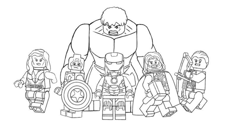 lego avengers coloring pages # 0