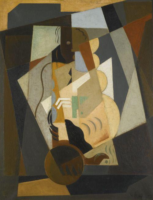 pintoras:María Blanchard (Spanish, 1881 – 1932): Still life - woman with mandolin (via Sotheby's)