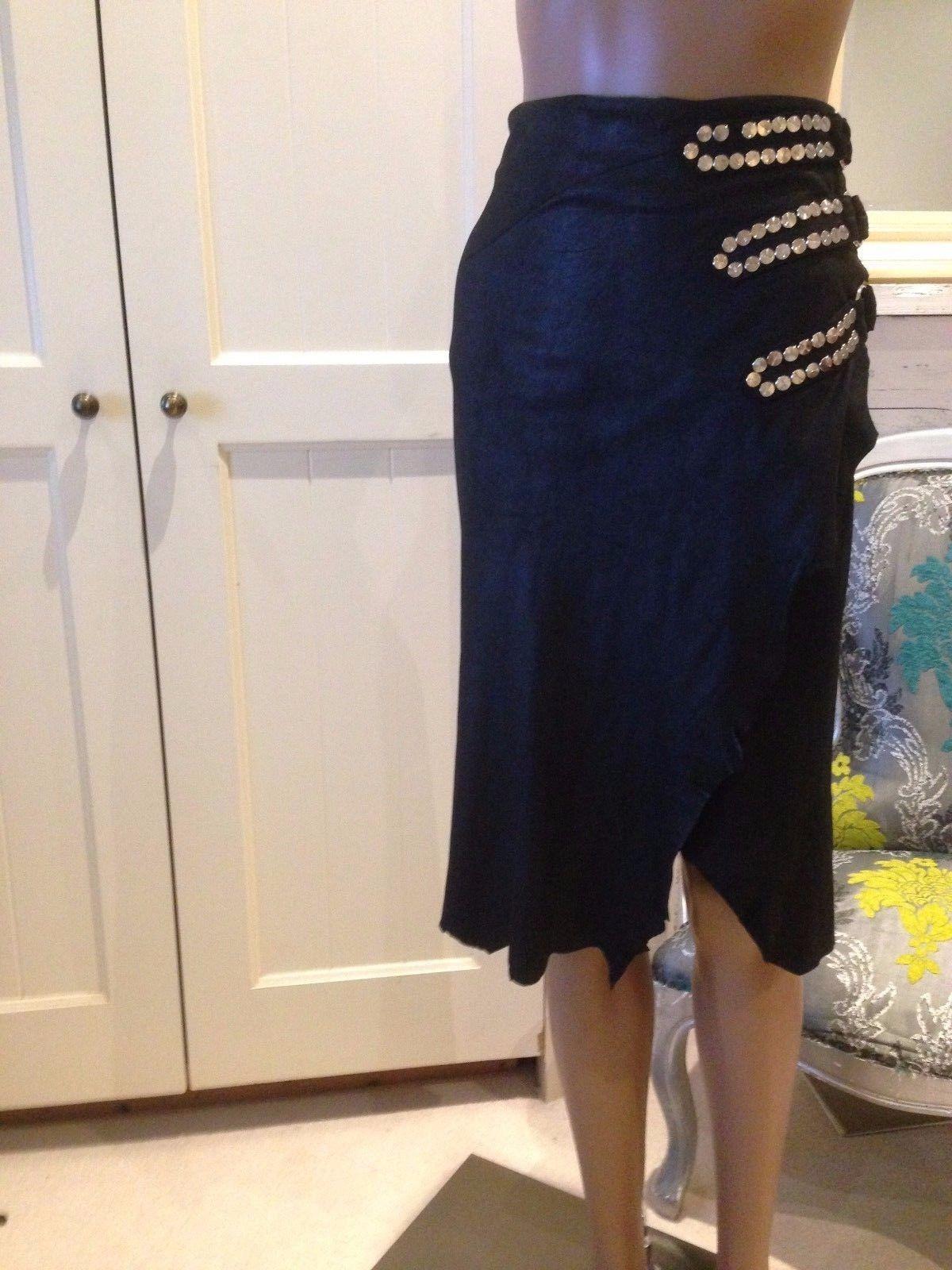 Balmain Goat leather skirt RRP 2900.00
