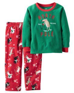 ab1e19ac4 2-Piece Fleece Christmas PJs