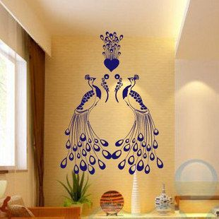 Charm Elegant Peacock Two Peacocks Decal Wall Stickers Vinyl Wall Decor  Living Room Bed Room Decals
