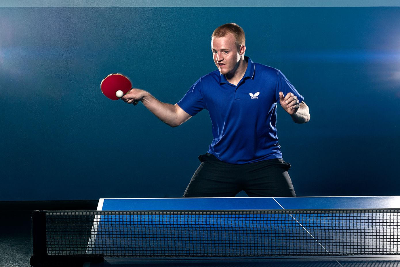 Advertising photos for the Utah Table Tennis Training