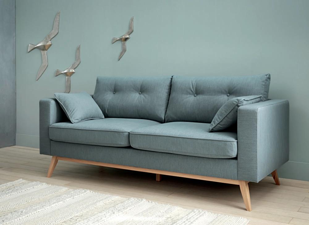 Canape Lit Style Scandinave 3 Places Bleu Glacier En 2020 Canape Maison Du Monde Decoration Maison Et Canape Angle