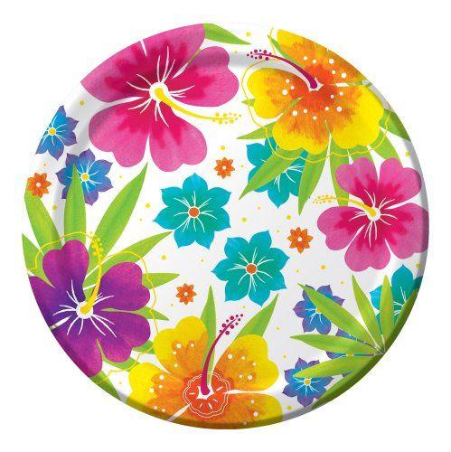 Creative Converting Big Value 50 Count Round Dinner Plates, Luau Floral Delight Creative Converting,http://www.amazon.com/dp/B00BIG54EW/ref=cm_sw_r_pi_dp_ETc8sb15E2WARF79