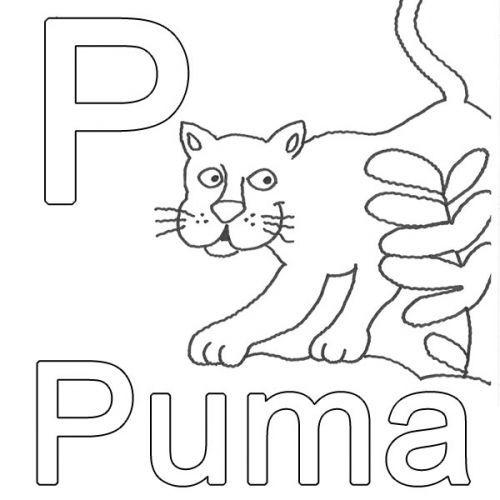 Kostenlose Malvorlage Buchstaben Lernen Kostenlose Malvorlage P Wie Puma Zum Ausmalen Buchstaben Lernen Ausmalen Alphabet Malvorlagen