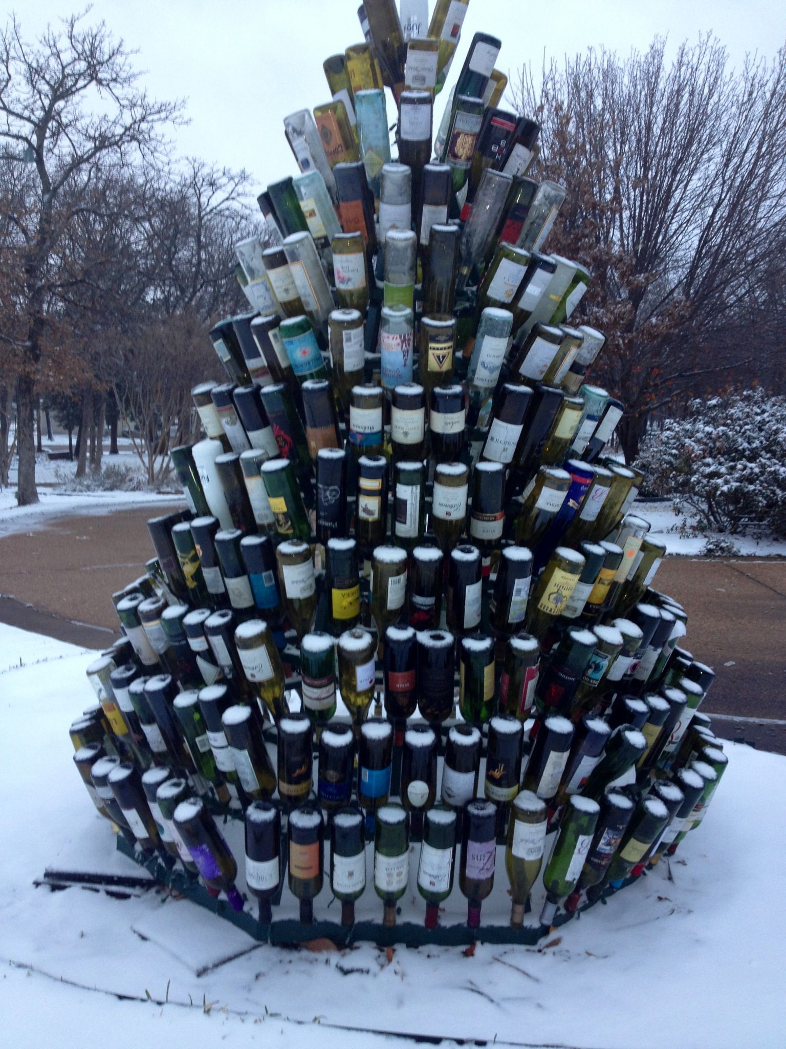 Wine bottle Christmas tree | Wine bottle christmas tree ...