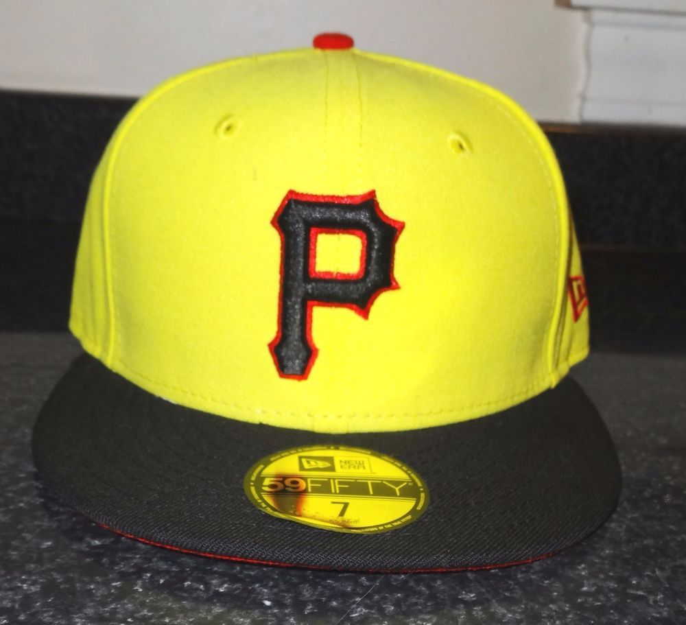 6b983a74 Pittsburgh Pirates 59 Fifty Cap Hat Yellow Black Official MLB Cap NWT New  Era SR #NewEra #PittsburghPirates