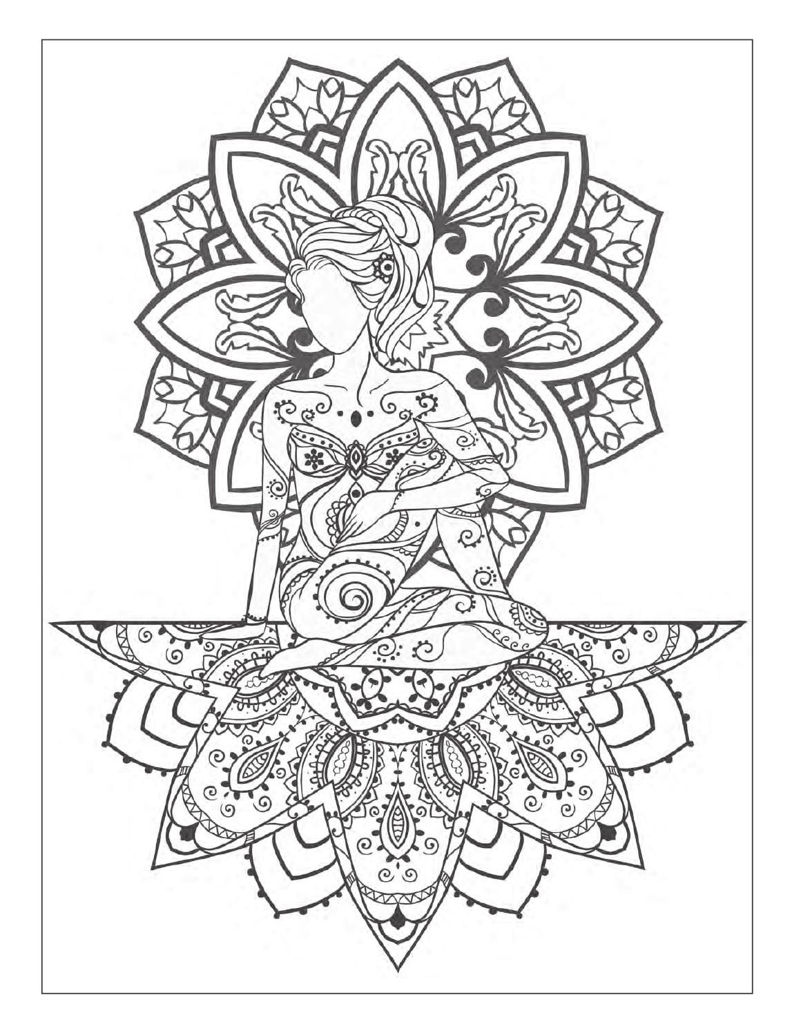 yoga and meditation coloring book for adults with yoga poses and mandalas yoga poses. Black Bedroom Furniture Sets. Home Design Ideas