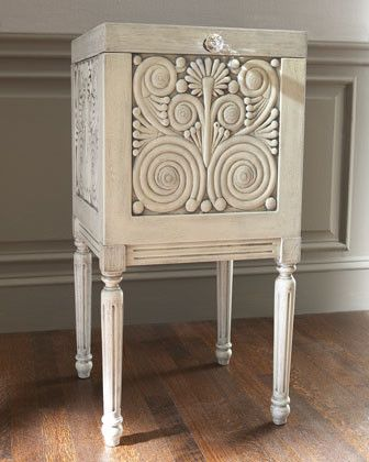 White Carved File Box traditional filing cabinets and carts ...