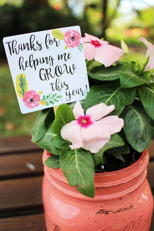 """Thanks For Helping Me Grow"" Teacher Gift | Teacher gifts ..."
