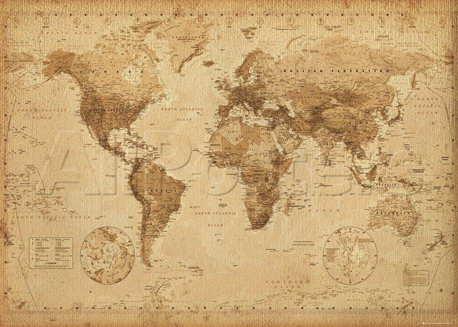 Carte du monde antique  Mapamundi antiguo Mapamundi y Mapas