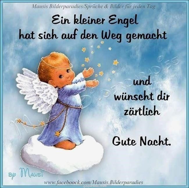gute nacht engel bilder | Gute nacht engel, Gute nacht
