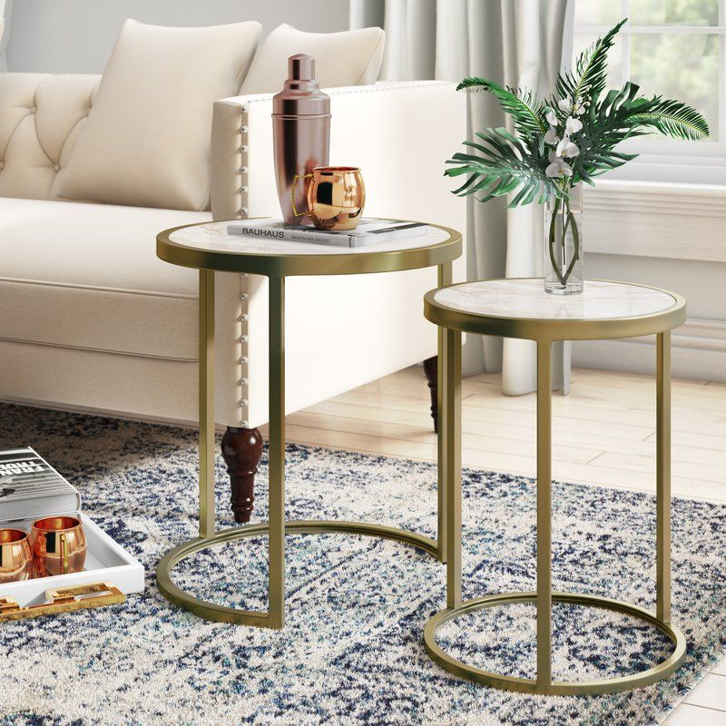Kit 2 Piece Nesting Tables Nesting Tables Modern Side Table Table