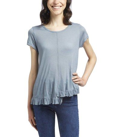 Another great find on #zulily! Slate Asymmetrical Tee #zulilyfinds