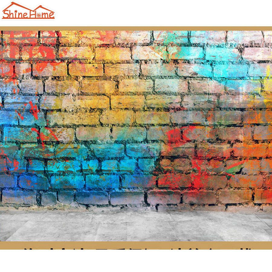 Details about ShineHomeBrick Wall Paper Wallpaper