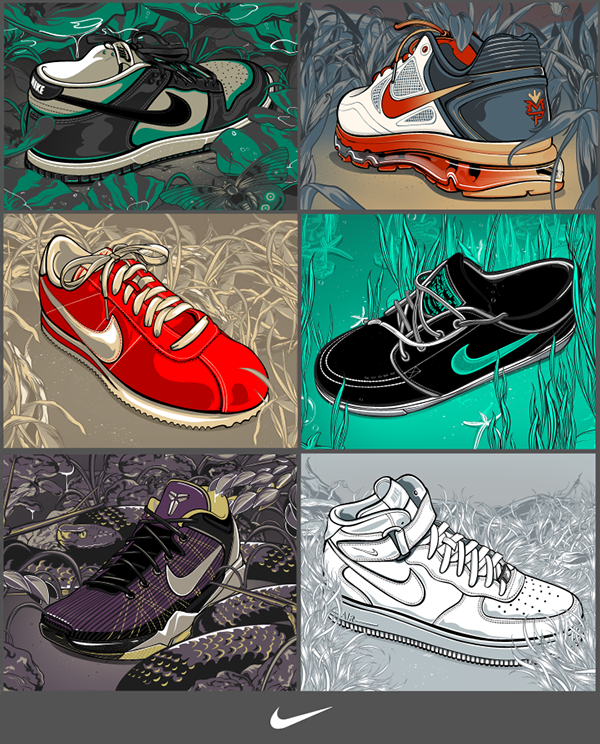 lowest price a5324 8056d Nike Shoe Illustrations