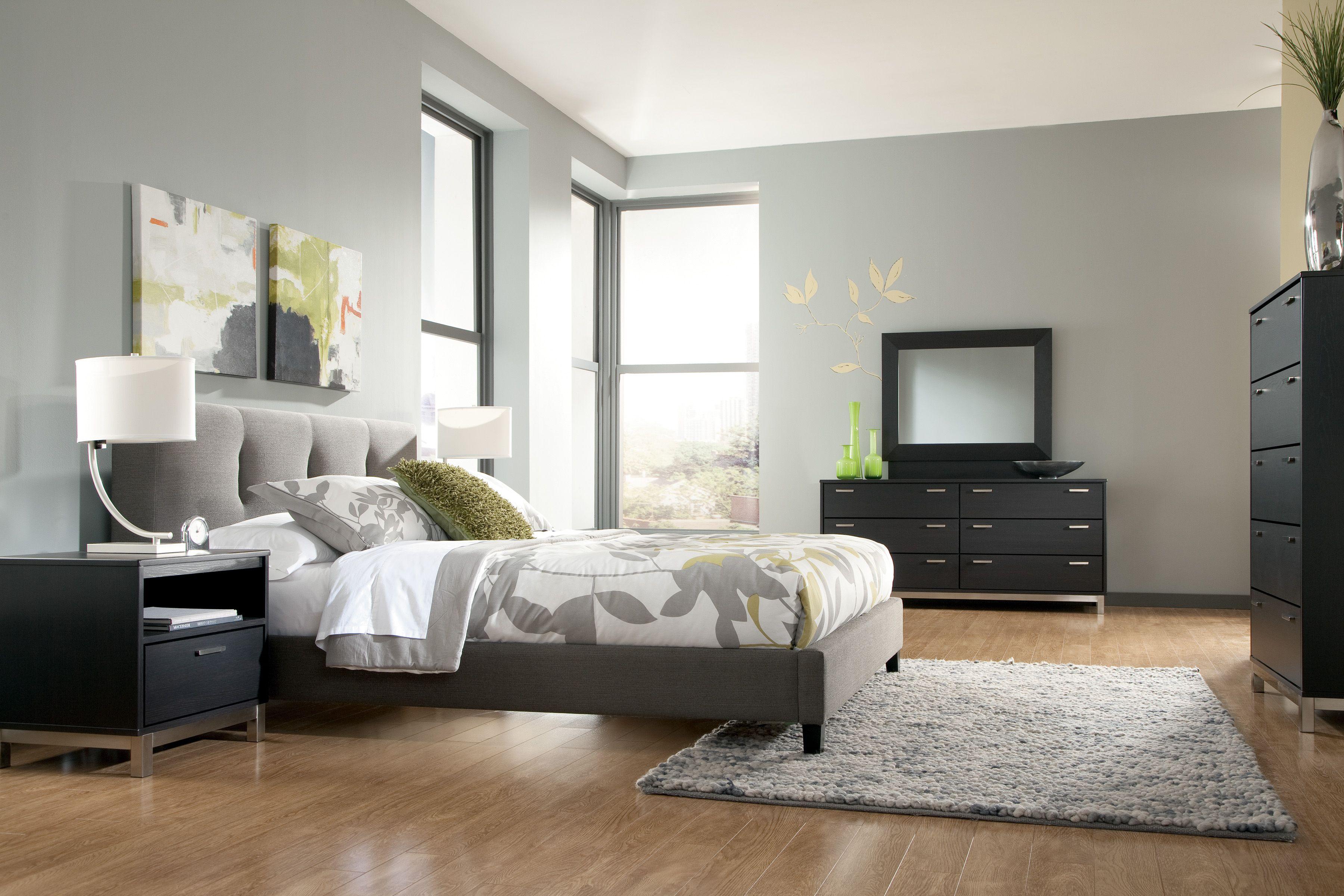 Masterton 4Piece Upholstered Bedroom Set in Espresso