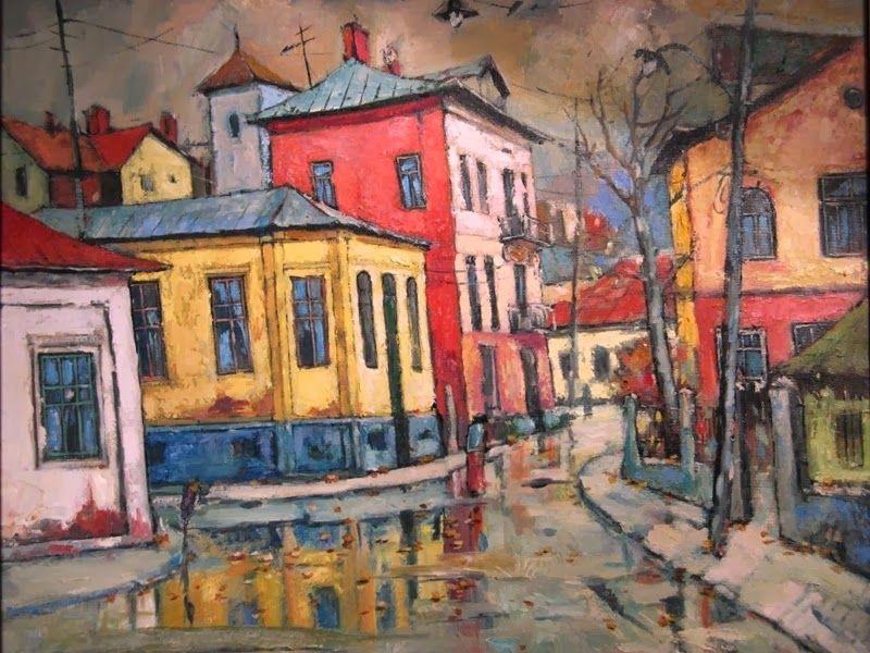 David Croitor Romanian Painter 1958 City Street Paintings Fine Art Pinturas Arte Paisajes