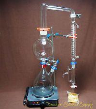 Essential Oil Steam Distillation Apparatus,120V,US-Plug,Graham Condenser