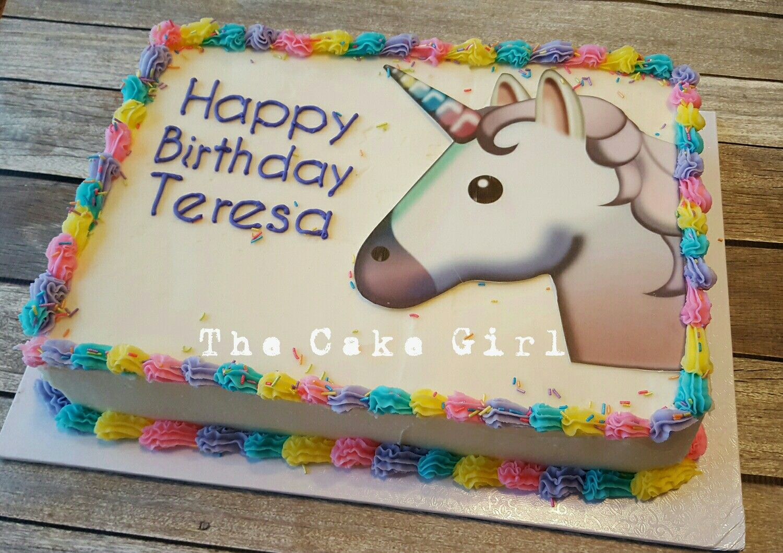 Unicorn Sheet Cake