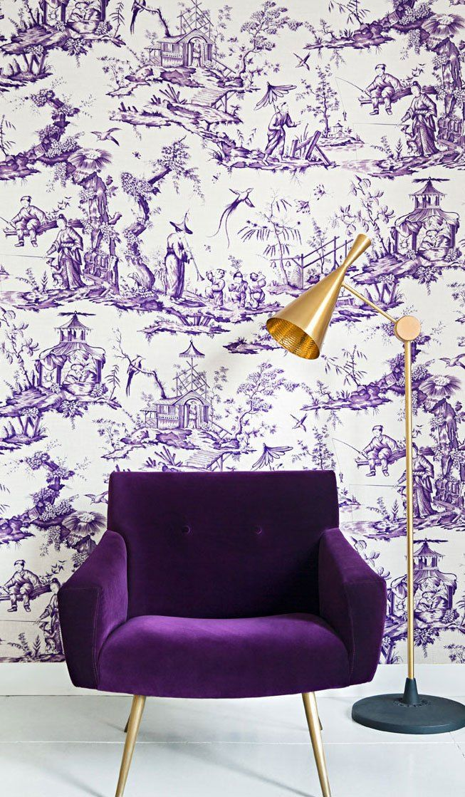 10 gorgeous ways to bring ultraviolet home this year for Wanddekoration jugendzimmer
