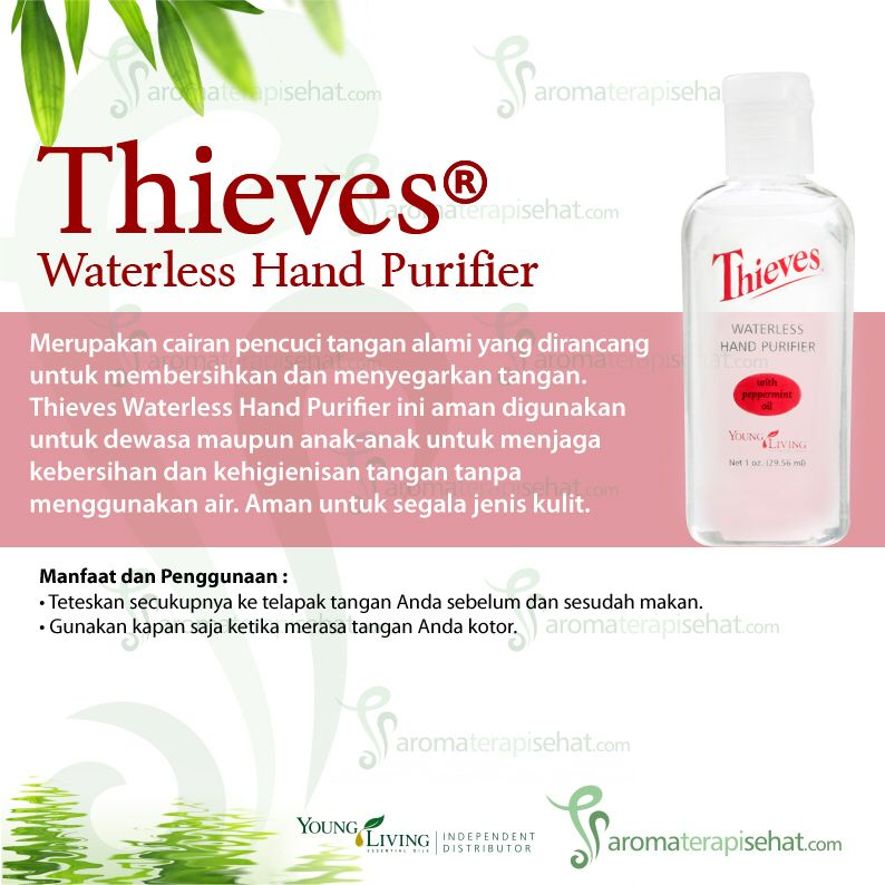 Thieves Waterless Hand Purifier Young Living Jenis Segalanya