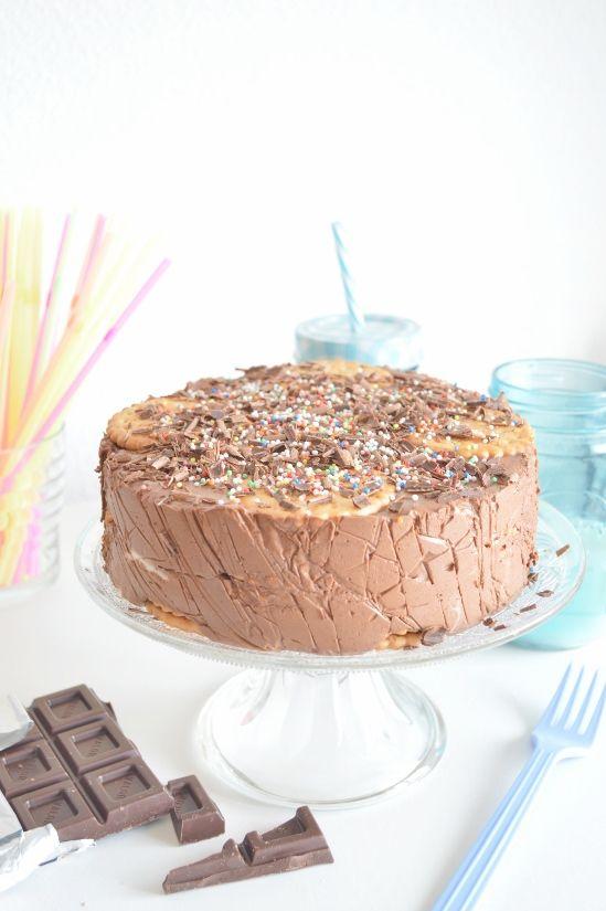 Mi dolce paradiso: Tarta de galletas con chocolate