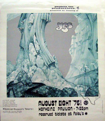 Yes, Aug 8, 1976, Hofheinz Pavilion