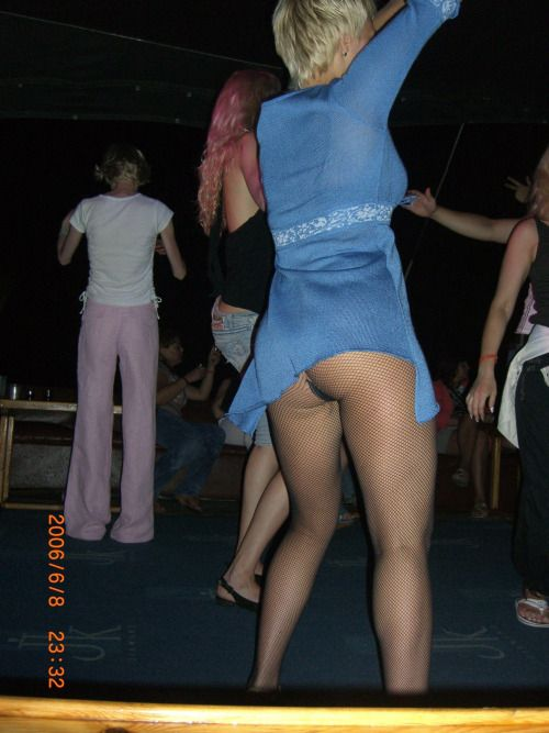 Milf dancing in pantyhose