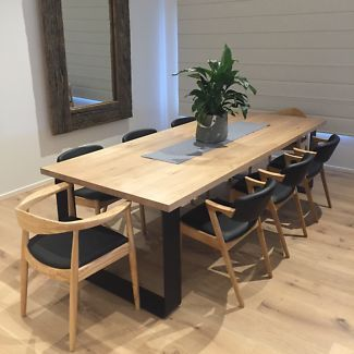 Wonderful KING DINING TABLE METAL LOOP LEGS ROUNDED CORNERS | Dining Tables | Gumtree  Australia Kingston Area
