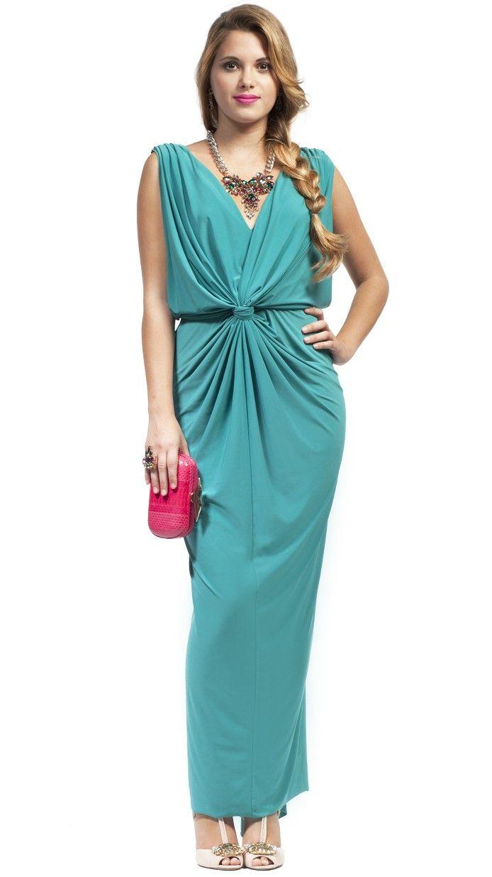 T-BAGS - El favorecedor color y corte de este maravilloso vestido te ...
