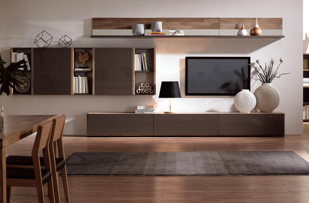 Livingroomtvshowcasedesignswoodveneer 992×652 Simple Living Room Showcase Design Decorating Design
