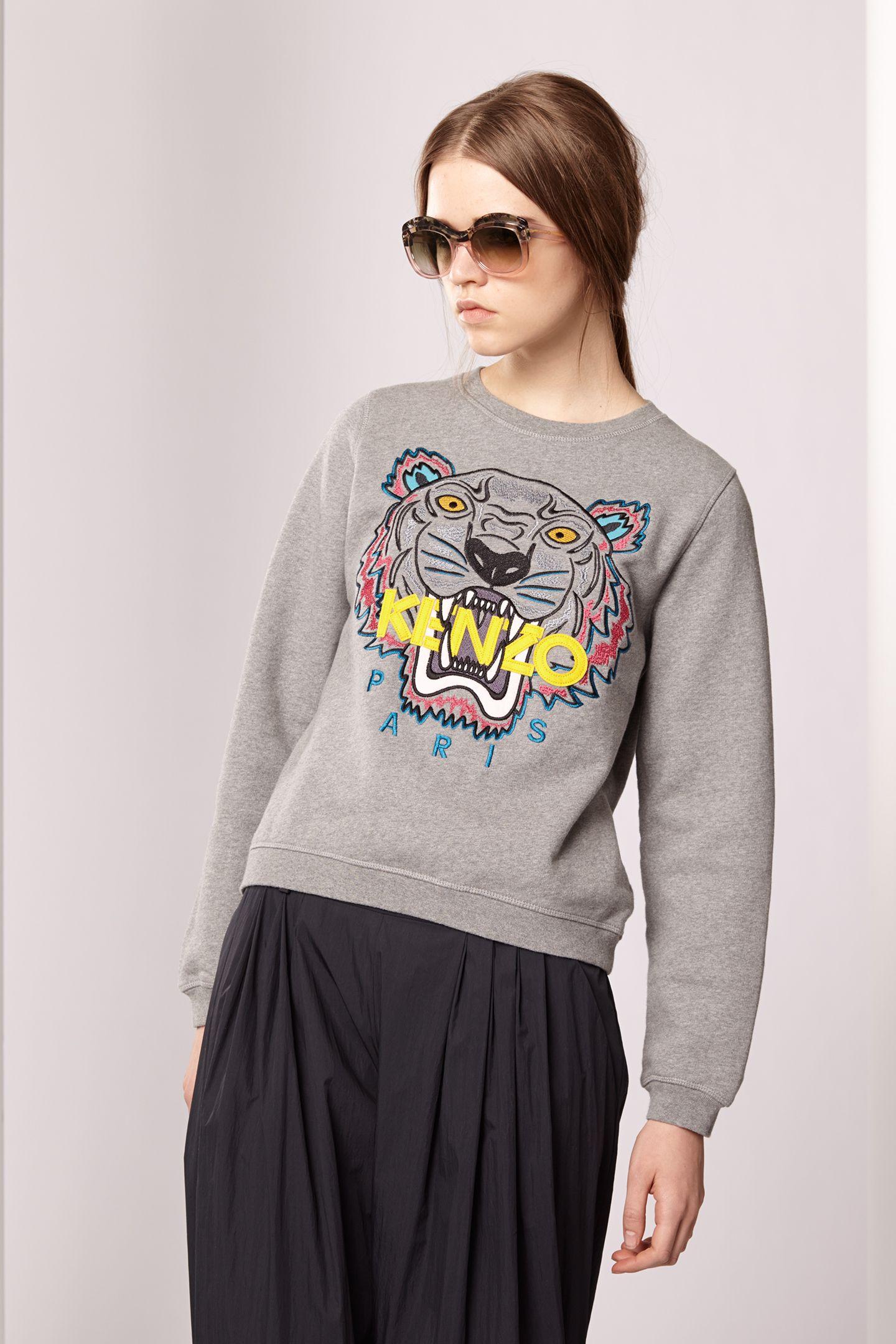 Kenzo Womens Tiger sweatshirt - Kenzo FW13 Icons Women - Kenzo E-shop a3ff2ffc24