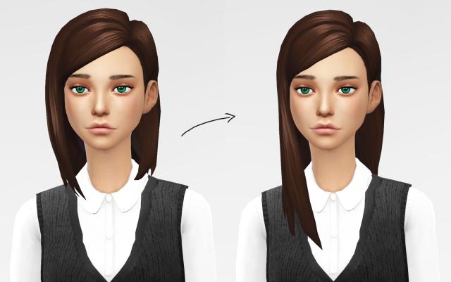 Side-Parted Hair // Mesh Edit – Dani Paradise | Sims 4