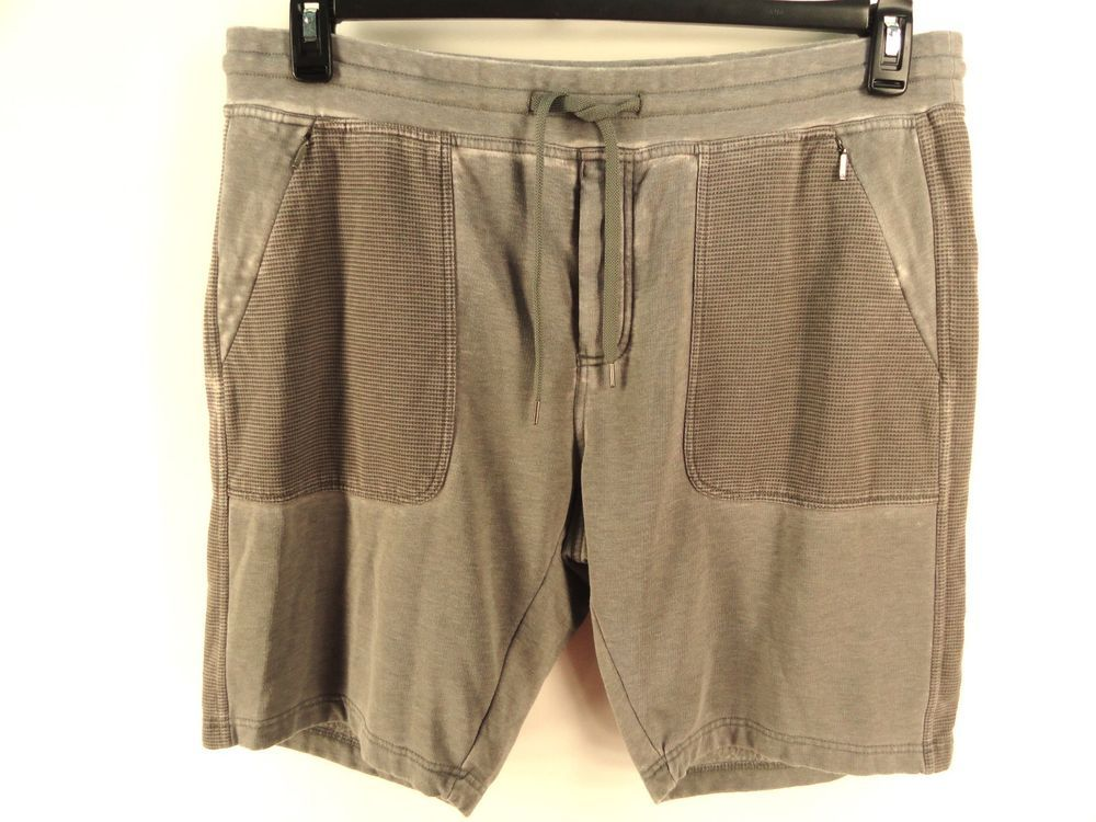CALVIN KLEIN NEW MENS $69.50 GRAY BURN OUT ATHLETIC SWEAT SHORTS XL #CalvinKlein #Athletic
